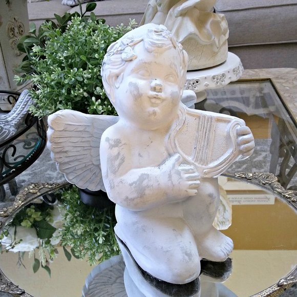 BEAUTIFUL VINTAGE Shabby CHIC ANGEL Cherub
